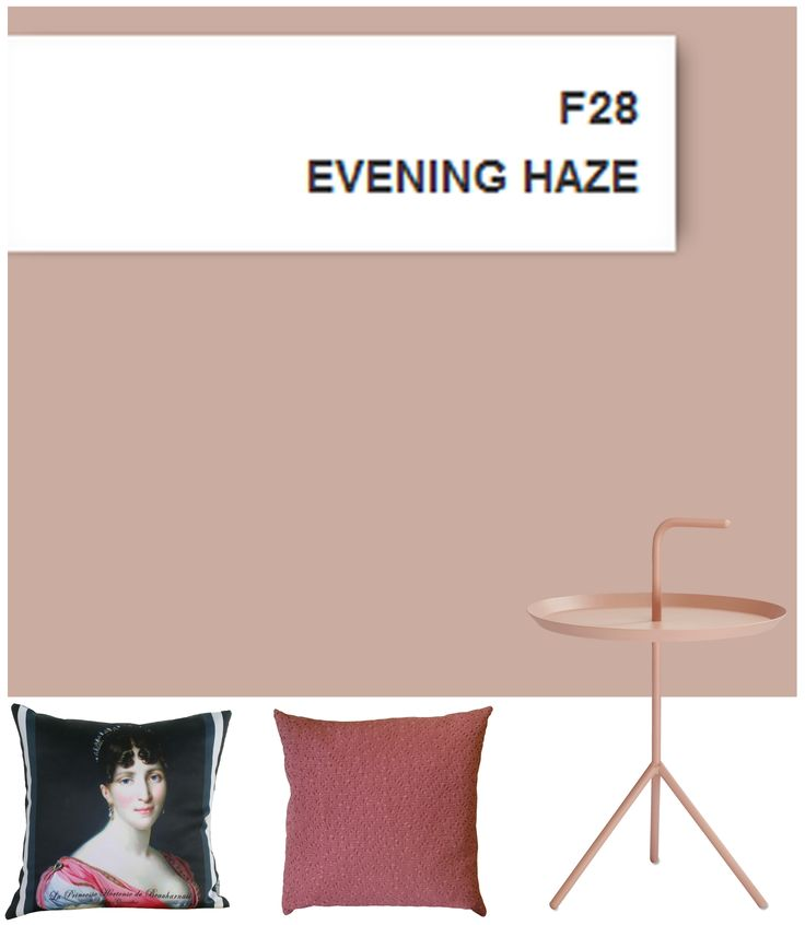 Ressource paintings, the F28 Evening Haze, a beautiful greyish pink.