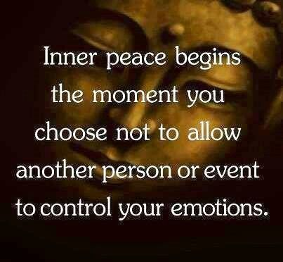 Only yoy can control how other people effect your emotions. Its a choice