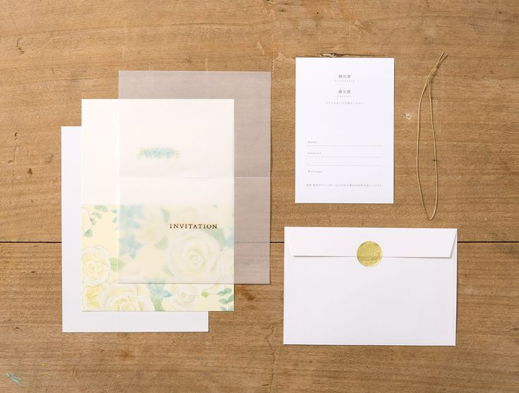 【irodori 招待状-作家彩(B)】作家の持ち味を活かした全面イラストの招待状。 半透明の紙に箔押しされた文字がエレガントです。 シンプルな仕様なのでどんなコーディネートでも マッチする、お使いいただきやすいタイプです。