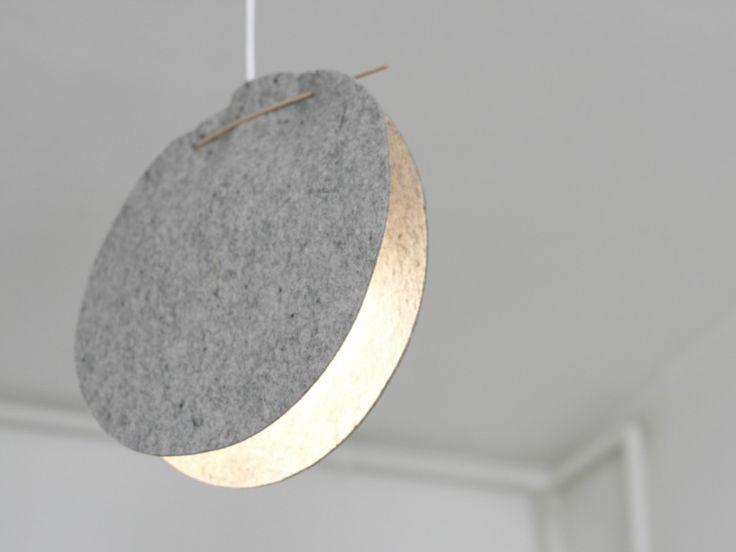 finoë luminaire suspension lampe feutre de laine louise bozzi déchelotte design modèle clille CL2