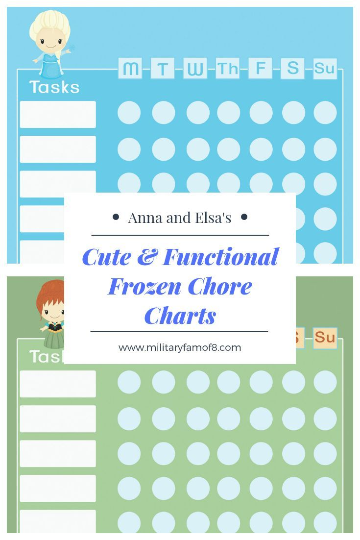 I Hope That You Enjoy Our Anna And Elsas Cute Functional Frozen Chore Charts These Are Such A Way To Help Kids Want Mark Off The