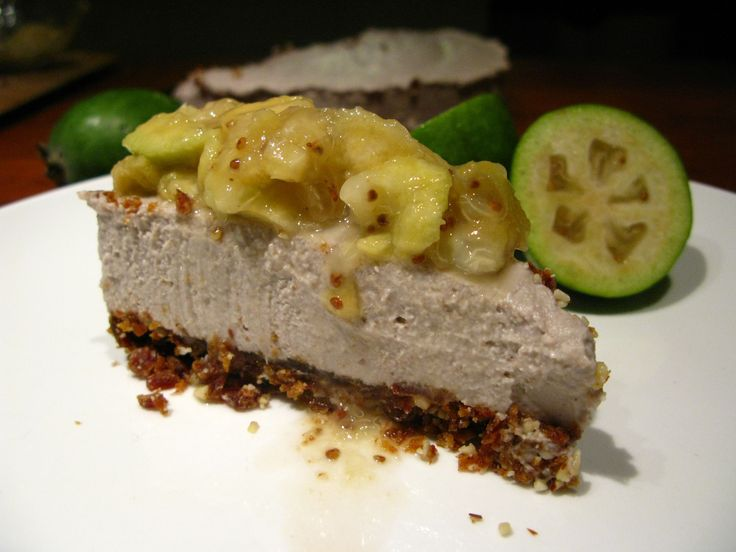 Raw Feijoa Cheesecake