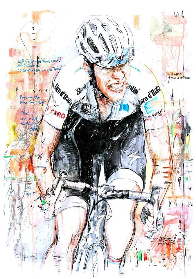 Bob Jungels wins stage 10 Giro d'Italia 2016 by Horst Brozy