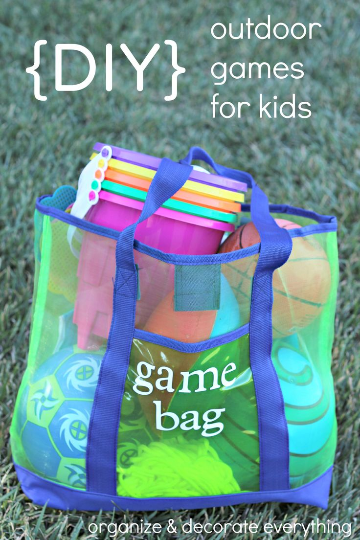 DIY Outdoor Games for Kids - Organize and Decorate Everything @mydollargeneral  #summerfun #dollargeneral