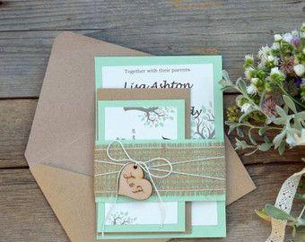 Boda rústica invitación melocotón boda por MelindaWeddingDesign