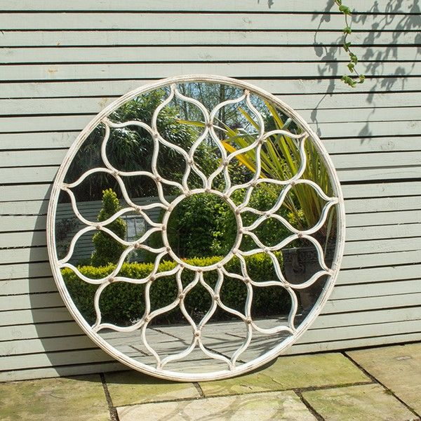 For the indoors, outside look you can't beat this stunning round garden mirror. A stylised flower design makes this large mirror a real statement piece for a terrace to create a feeling of light and space and reflect the surrounding area. Mirrors are a great way to accessorise the garden, either as wall art or in a secluded area of the garden surrounded by greenery for a hidden gem that comes as a surprise.