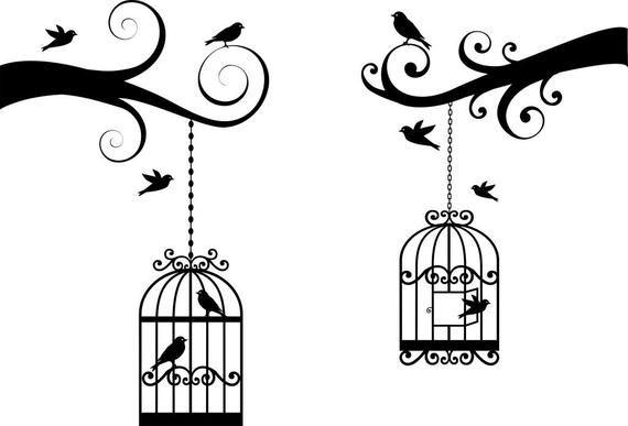 Birds Cages Svg File Digital File Svg Png Birds Cages Etsy Clip Art Stock Art Bird Cage