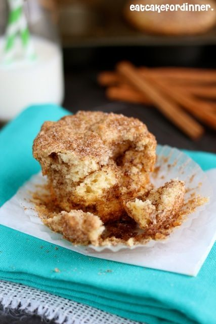 Secret Ingredient Snickerdoodle Muffins