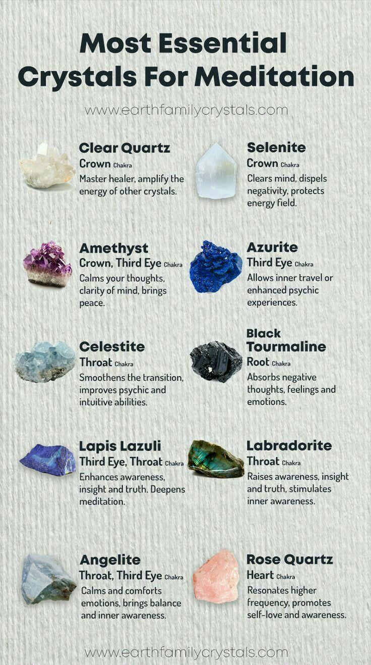 Crystal For Meditation Crystal Healing Chart Meditation Crystals Crystals