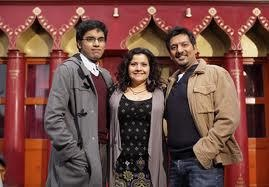 Tamwar, Zainab and Masood played by Hamish Patel, Nina Wadia and Nitin Ganatra.