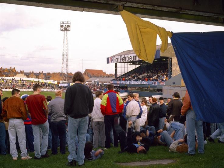 Away fans at Springfield Park