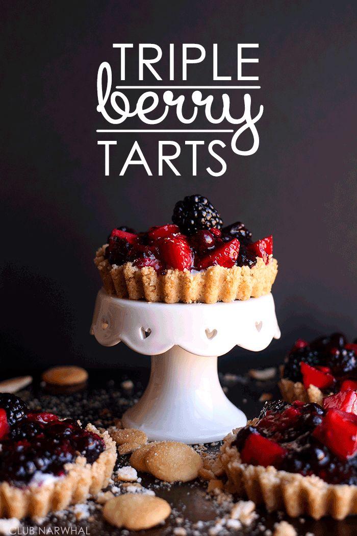 FOOD VIDEO | EASY TRIPLE BERRY TARTS
