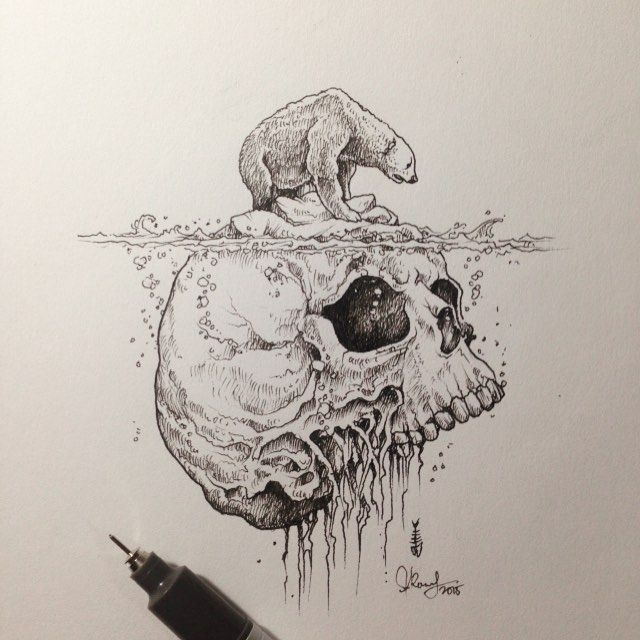 Hey Climate Change Deniers... This is 'The Future' if you just keep sitting on your hands. This epic design is by the very talented Manila based illustrator: Kerby Rosanes and is perfectly titled 'Warming', enough said. Check out his other works via: Instagram just for starters SkullyBloodrider.