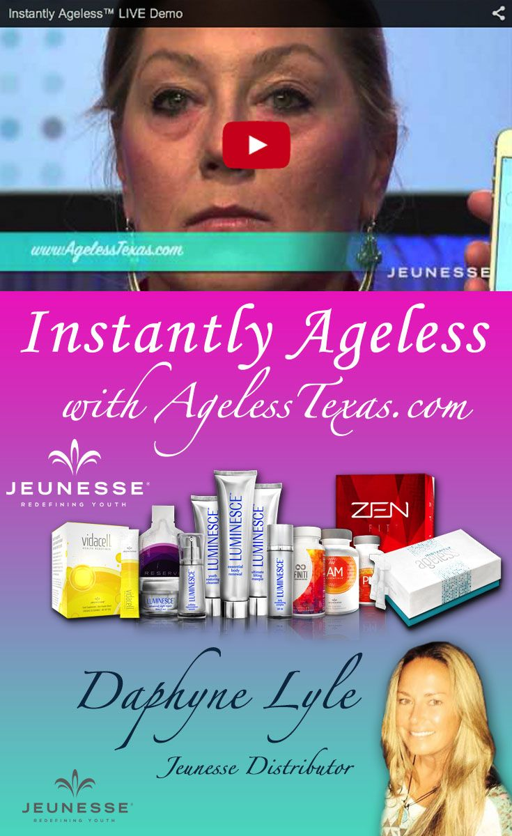 Ageless Texas Can Help You Look Flawless with Jeunesse Skin Care Products