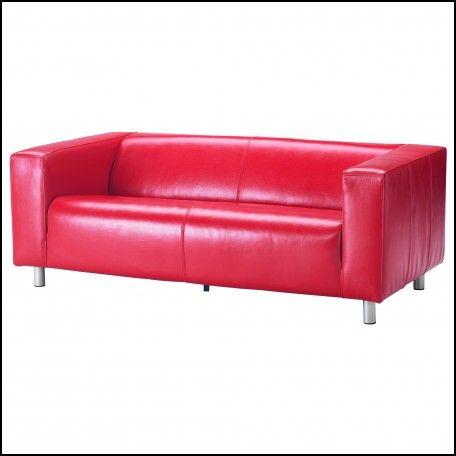 Ikea Klippan Red Leather sofa