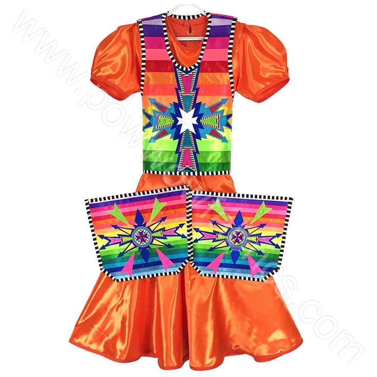 """Measurements Shawl 72-1/2"""" wide by 29-1/2"""" long 24"""" fringes Dress Shoulder to Shoulder: 15""""Chest: 37""""Waist: 36""""Hips: 40"""" Shoulder to Skirt Seam: 28""""Skirt Length"""