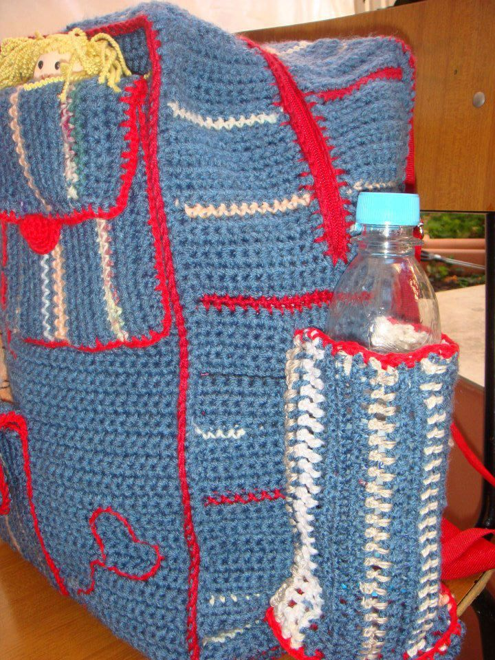 backpack! made by Carpe Yarn! ALL MADE ENTIRELY WITH WOOLEN REMNANTS! https://www.facebook.com/pages/CARPE-YARN/536327939721722?sk=photos_stream&tab=photos_albums