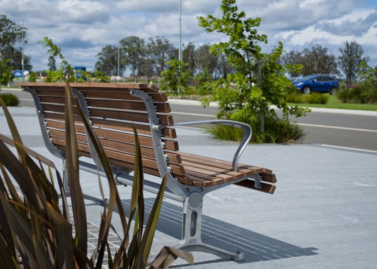 Classic Galleria Seat   Our most classic range features slender battens in a wave profile, made from eco-certified hardwood or aluminium, with a variety of arm and leg designs. streetfurniture.com
