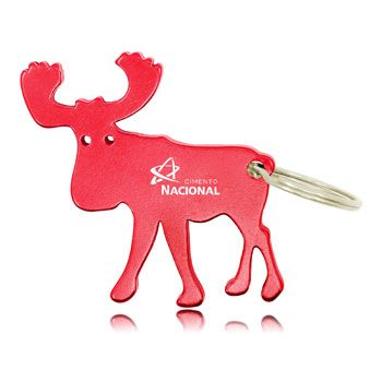 Wholesale distributor provides personalized Moose Shape Keychain With Opener, promotional logo Moose Shape Keychain With Opener and custom made Moose Shape Key