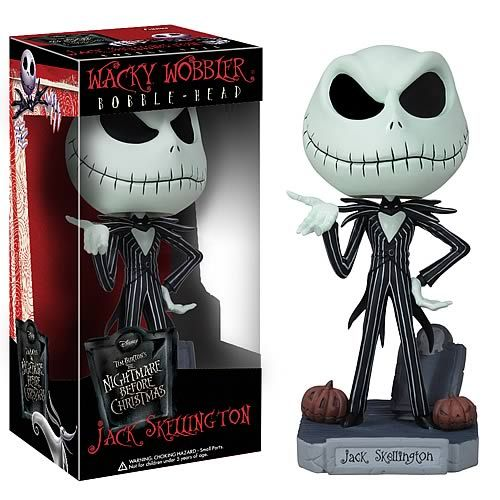 Nightmare Before Christmas Jack Skellington Bobble Head - Funko - Nightmare Before Christmas - Bobble Heads at Entertainment Earth