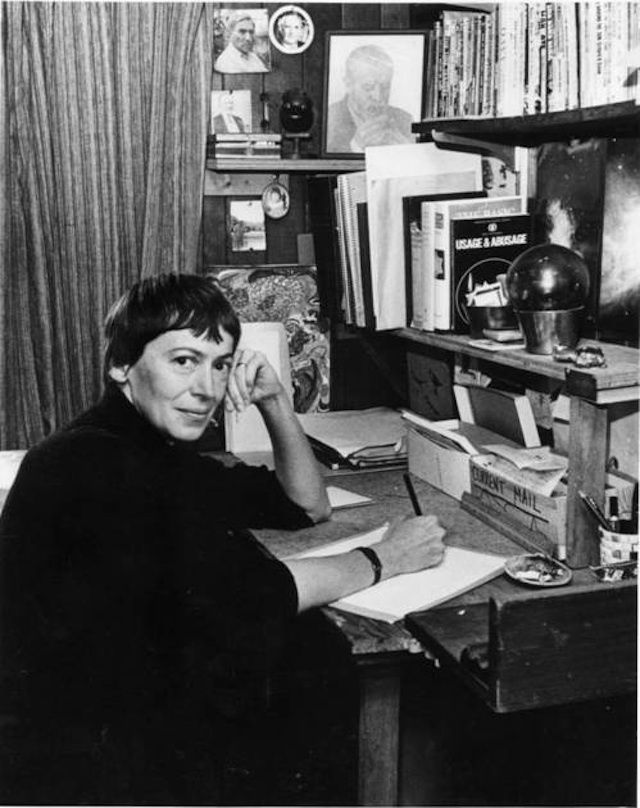 Famous Scifi And Fantasy Authors In Their Workspaces (Ursula K LeGuin)