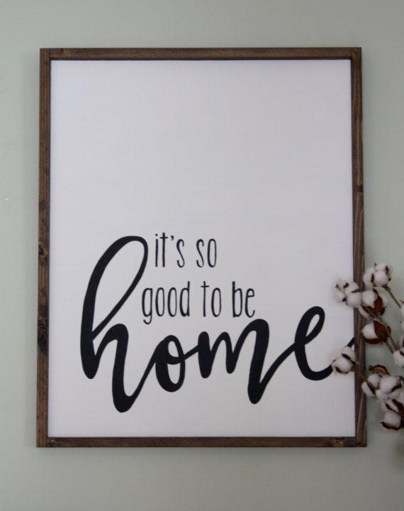 Bauernhaus Wanddekoration – rustikale Holzschild – es ist so gut, zu Hause zu sein – Bauernhaus Dekor – rustikales Zuhause dec