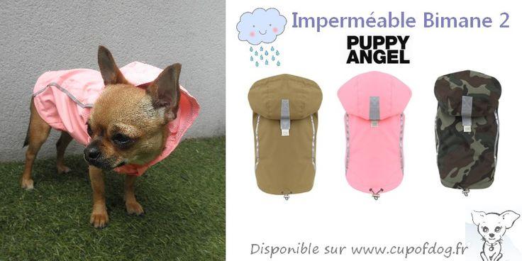 Imperméable chien Puppy Angel Bimane 2 https://www.cupofdog.fr/puppy-angel-m-17.html