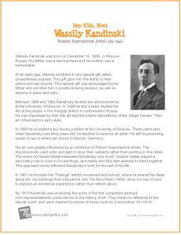 Kandinski | Biography for Kids - http://makingartfun.com/htm/f-maf-art-library/wassily-kandinski-biography.htm
