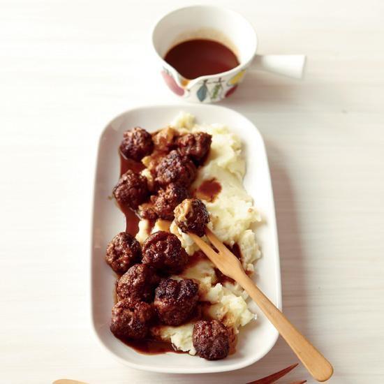 Norwegian Meatballs | In her cookbook Scandilicious, Signe Johansen shares her unusual cocoa-sauced meatball recipe.