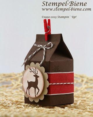 Stampin' Up Warmth & Wonder, Bigz Mini-Milchkarton, Mini Milk Carton Bigz L
