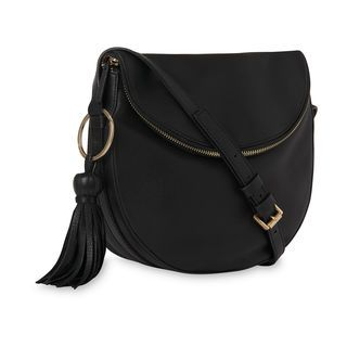 Clifton Slouchy Tassel Zip Bag, in Black on Whistles