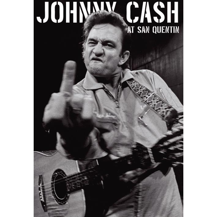 "#Poster verticale ""Finger"" di Johnny Cash. Dimensioni: 61 x 91,5 cm."