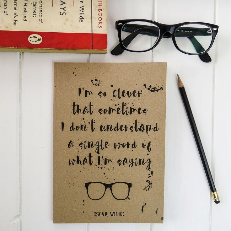"""I'm so CLever..."" - Oscar Wilde Quote A5 Notebook"