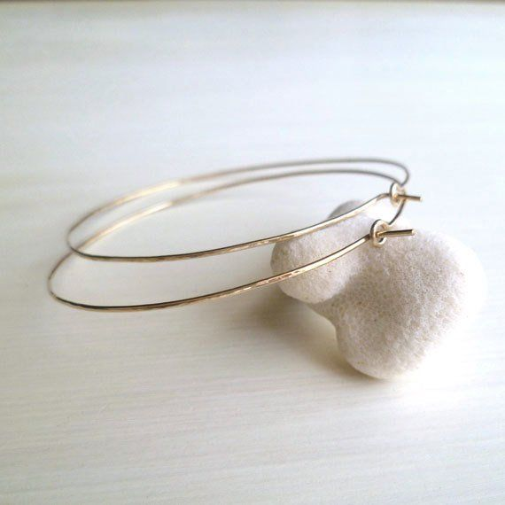 Hoop Earrings – Gold Fill – Hammered – Light – Delicate – Minimalist – Modern – Sparkly – Urban Chic – Products