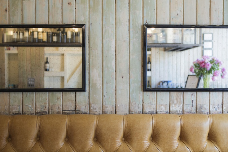 Loving restored tongue & groove, with antique mirrors