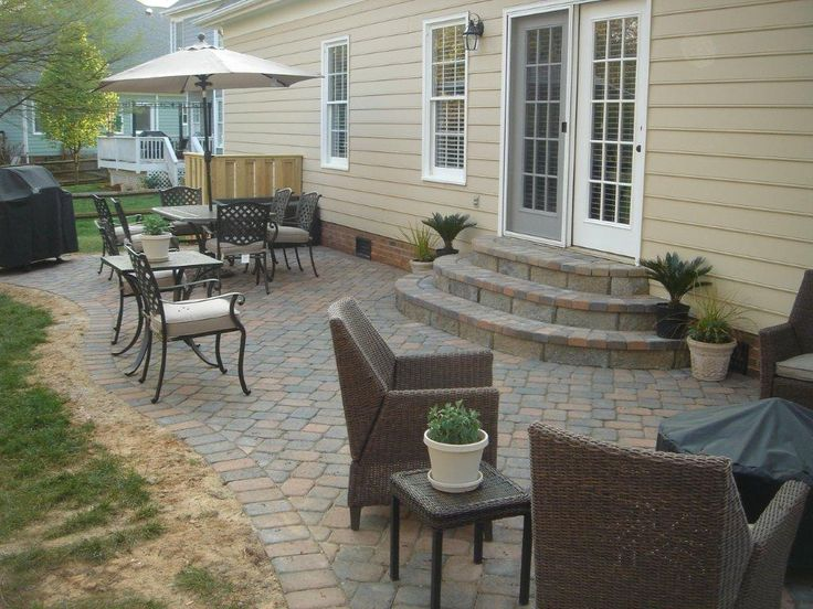 best 25+ brick steps ideas that you will like on pinterest | porch ... - Small Patio Paver Ideas