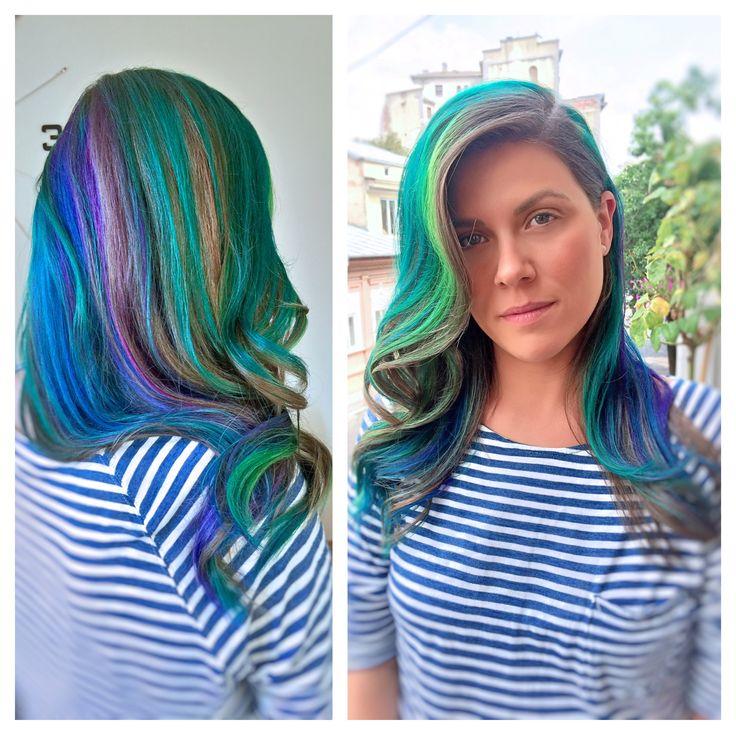 #unicorn-hair #hair-color #rainbow-hair #longhair #wavy-hair #jbeverlyhills #1concept #yourbeautymasters