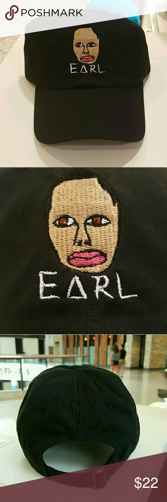 Earl sweatshirt hat $$******READ DESCRIPTION*****$$  No I won't take $10   *Do not comment unless you're ready to buy with money in hand   *New adjustable hat   *If posted still available   *I ship next day if purchased before 5 PM on Sunday and 7.30 PM every other day, if purchased after hours it will be shipped the day after tomorrow   *Shipping takes 5-7days please don't rate based off shipping speeding i don't control USPS   *Trusted seller buy with confidence. Accessories Hats