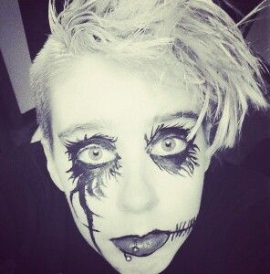Another makeup thing, young Andy Biersack makeup attempt