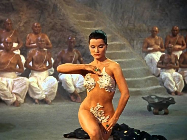 "The gorgeous, exotic beauty Debra Paget doing the snake dance from the 1959 movie, ""The Indian Tomb"". All my uploads are HD quality --be sure to check them o..."