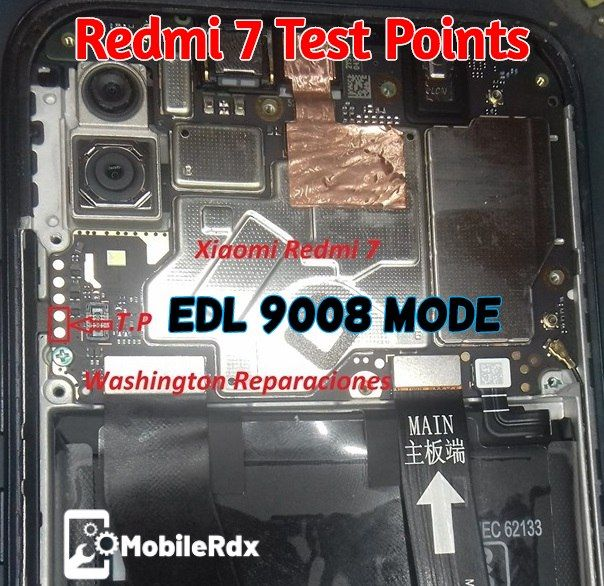 Redmi 7 EDL Mode PINOUT [Redmi 7 Test Points] | MobileRdx in