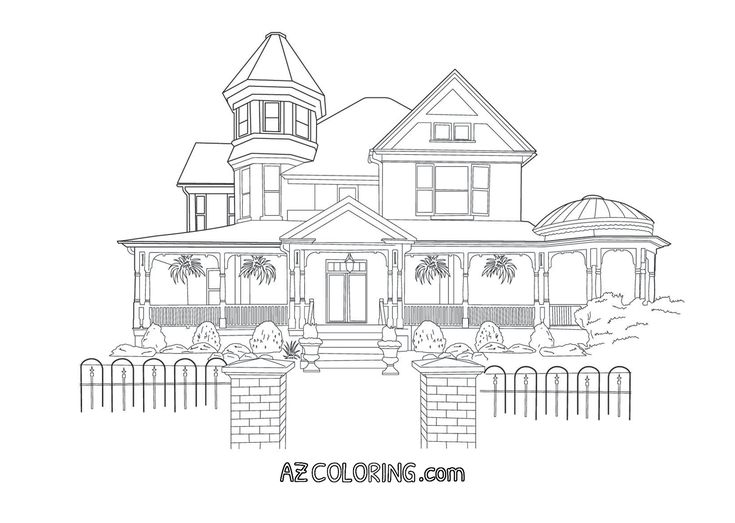 Victorian House Coloring Page Coloring Pages House Colouring Pages Secret Garden Coloring Book