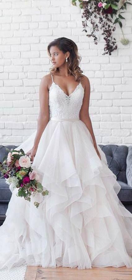 20+ Super Ideas Wedding Dresses Ball Gown Ruffles Skirts