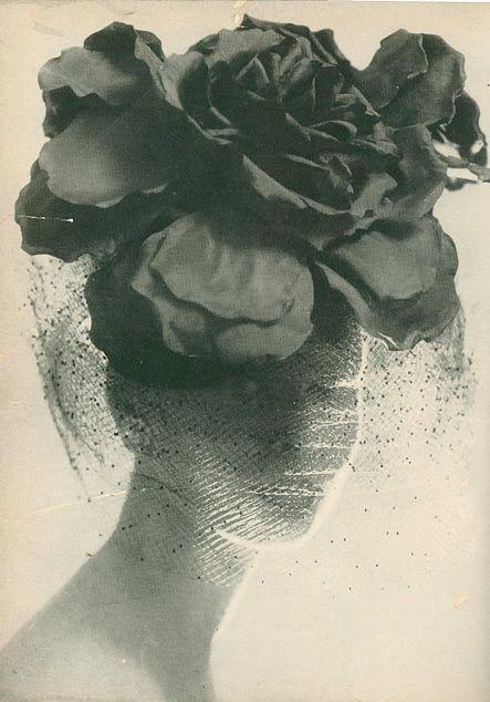 #vintage #1960 #Vogue #portrait #vintage hat #veil