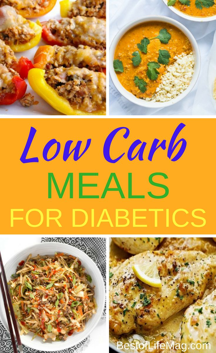 Low Carb Meals For Diabetics Diabetic Recipes For Dinner