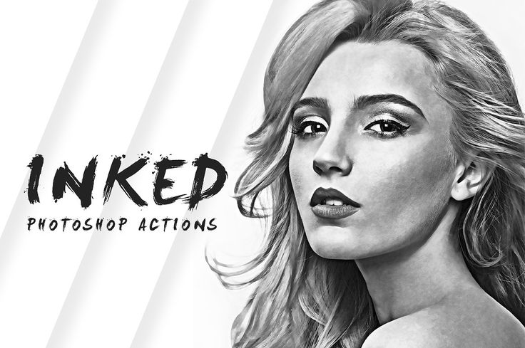Inked Photoshop Actions by Micromove on @creativemarket