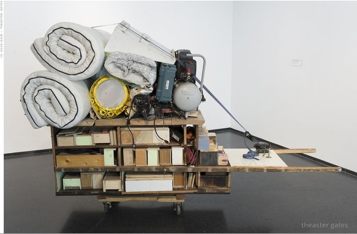 Theaster Gates: Migration Rickshaw for Sleeping and Building, 2013. Photo courtesy: MCA Chicago 2013.