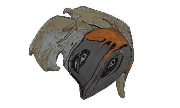 Warframe - Life Size Ember's Helmet Papercraft Free Template Download - http://www.papercraftsquare.com/warframe-life-size-embers-helmet-papercraft-free-template-download.html#Ember, #Helmet, #LifeSize, #Warframe