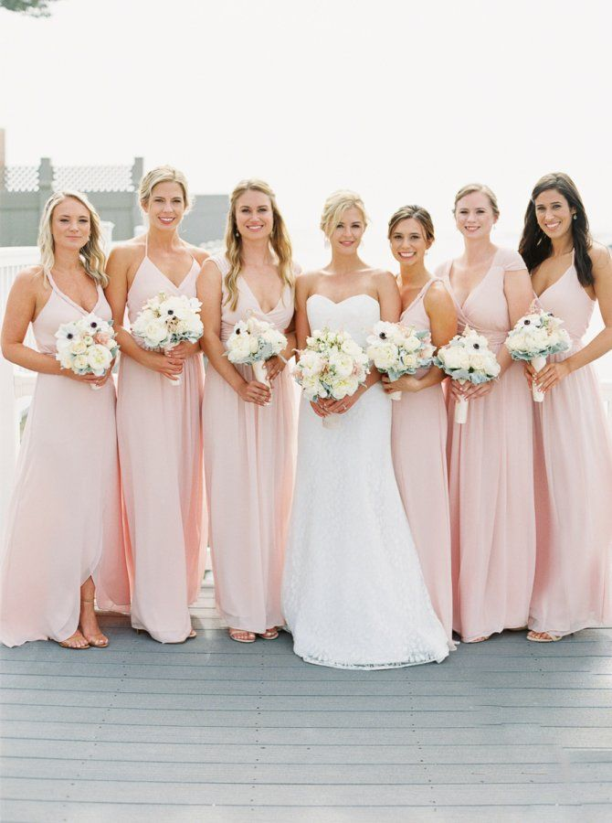 730 best images about bridesmaid dresses on pinterest for Millennial pink wedding dress
