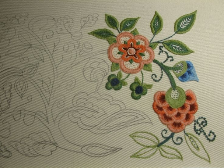 60 Best Jacobean Images On Pinterest Embroidery Jacobean Best Crewel Embroidery Patterns
